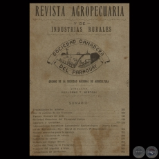 1929 - N° 08 - REVISTA AGROPECUARIA Y DE INDUSTRIAS RURALES - Director GUILLERMO TELL BERTONI